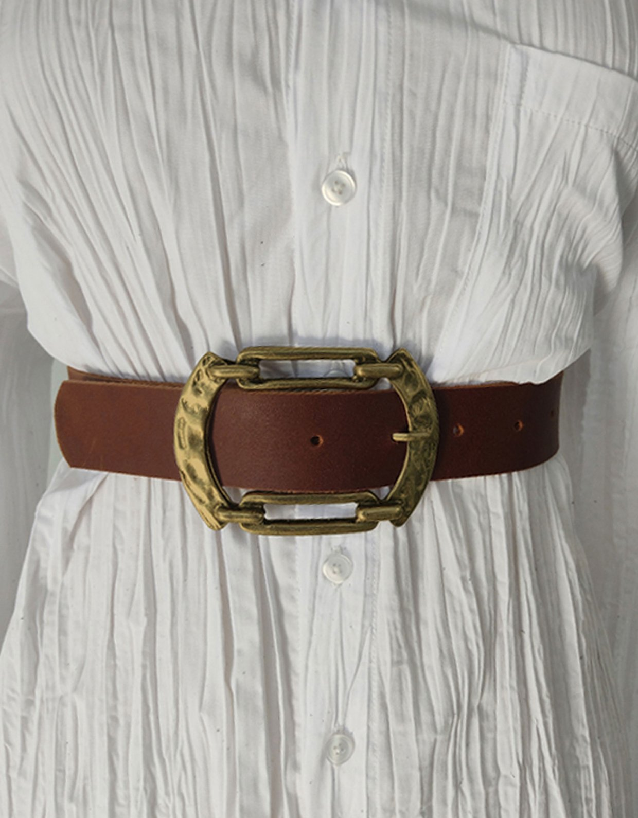 Peace & Chaos Connection leather belt tanned