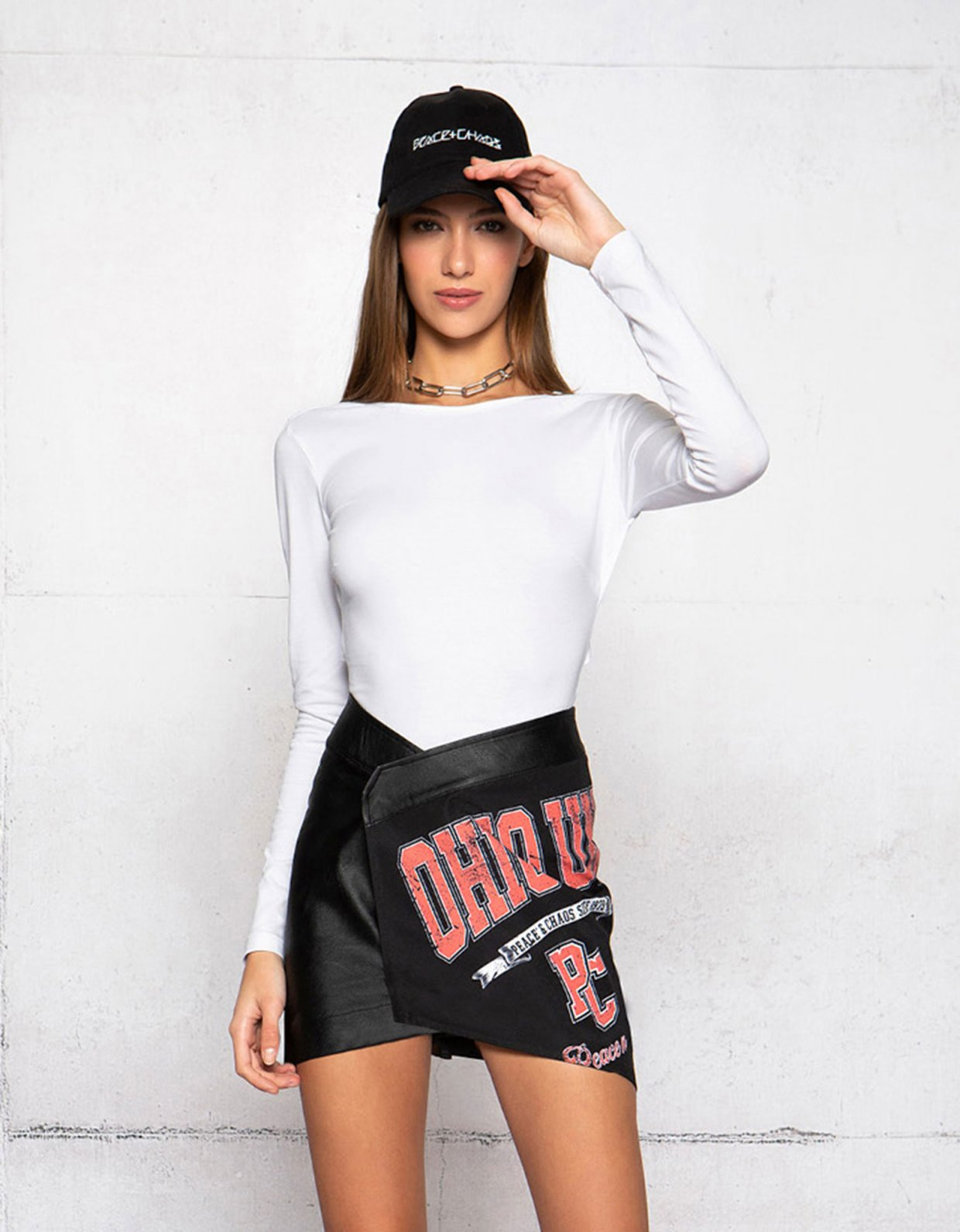 Peace & Chaos College nights skirt