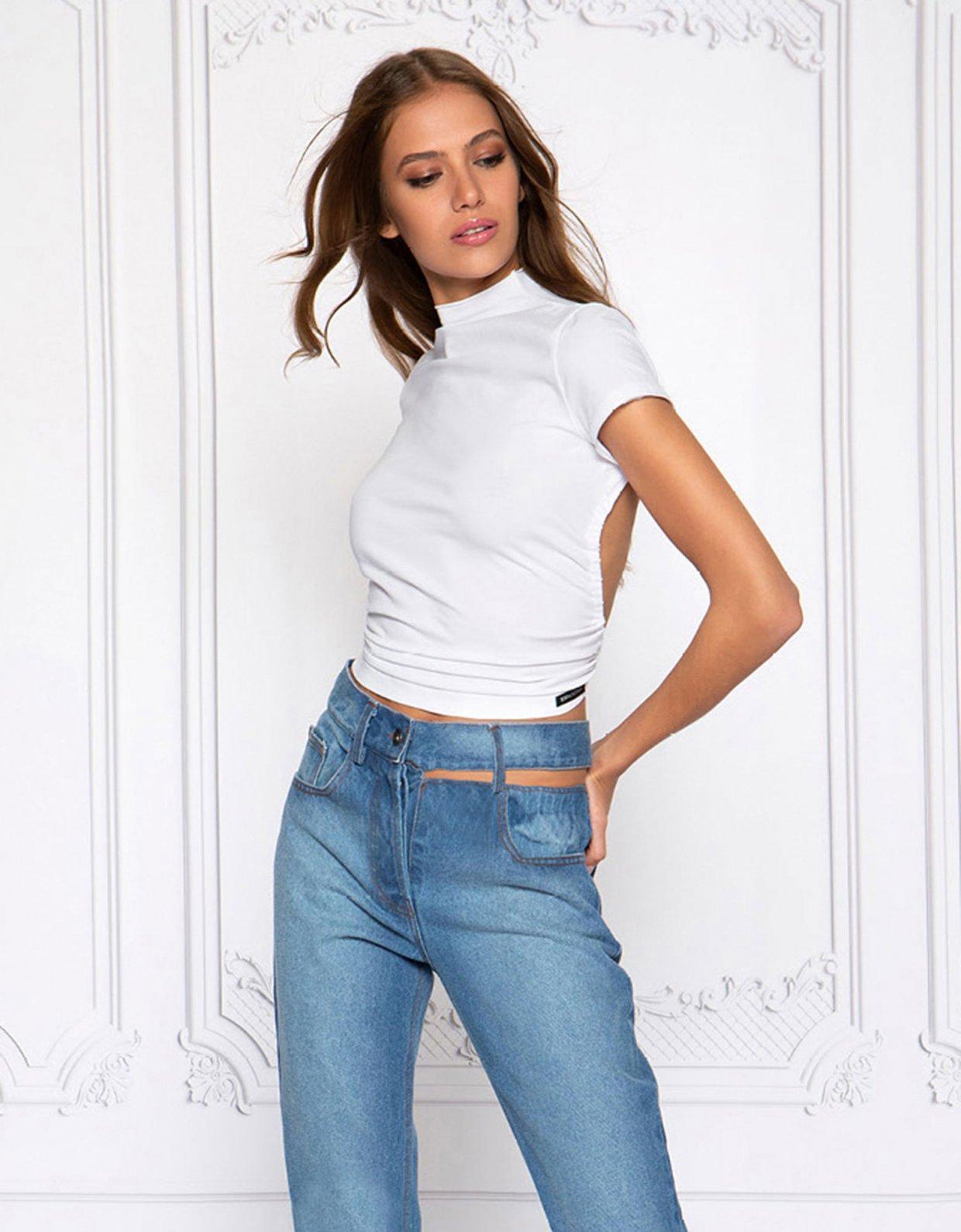 Peace & Chaos Cut out denim jeans