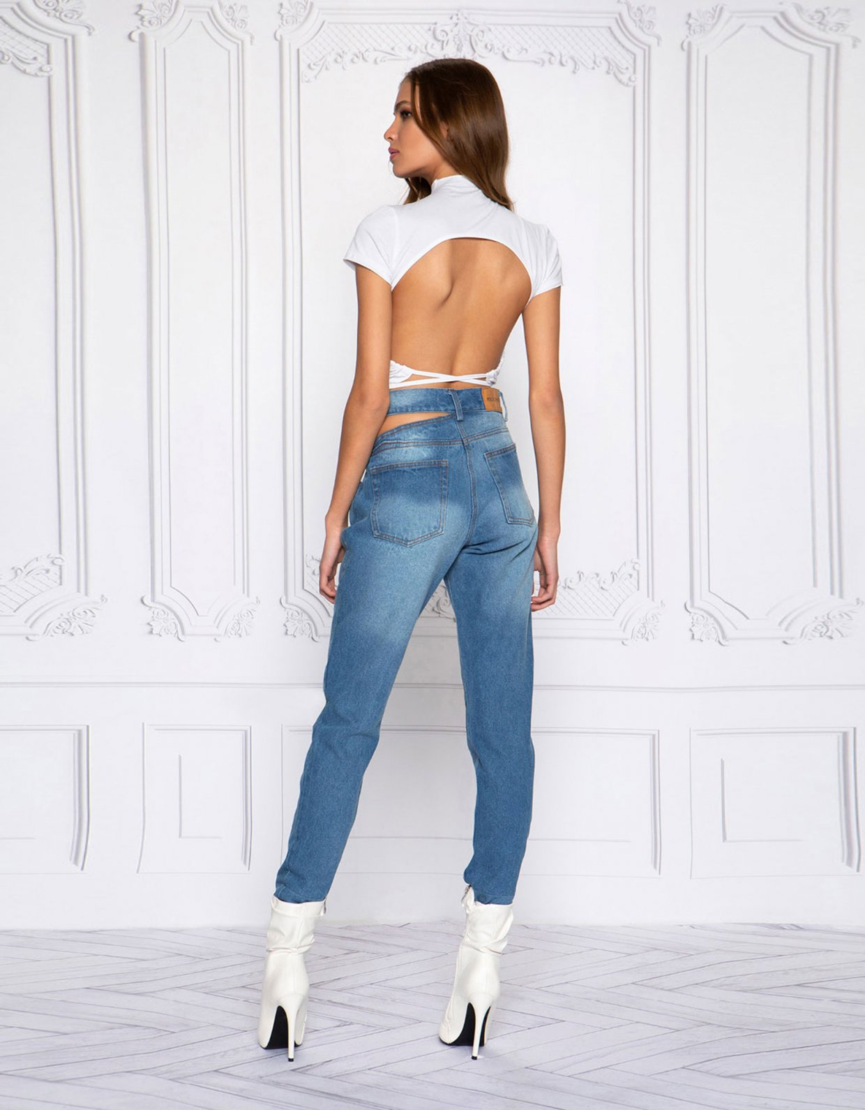 Peace & Chaos Backless top white