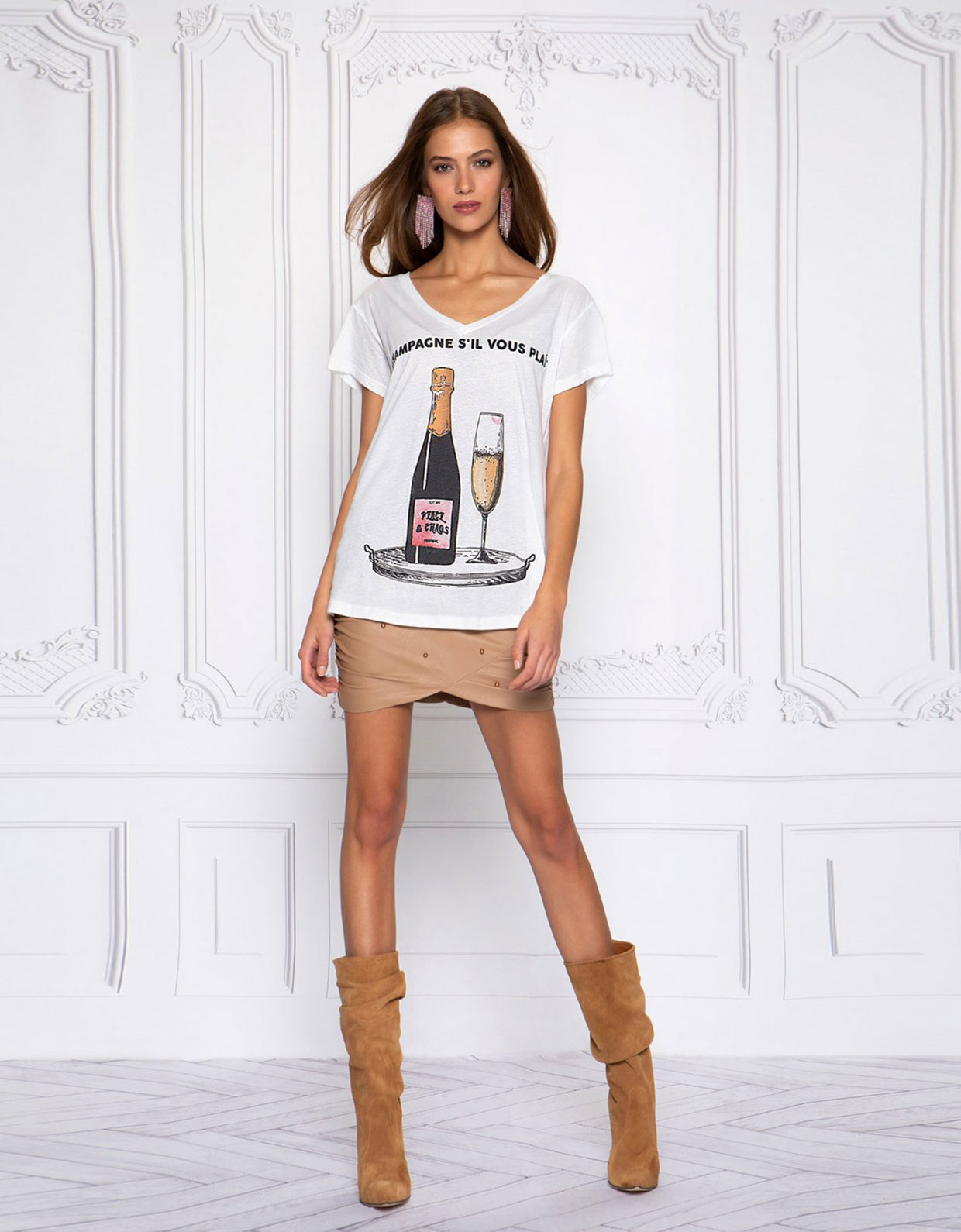 Peace & Chaos Champagne s'ilvous plait t-shirt