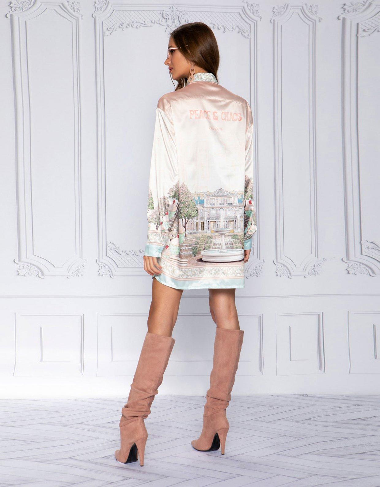 Peace & Chaos Versailles satin shirt