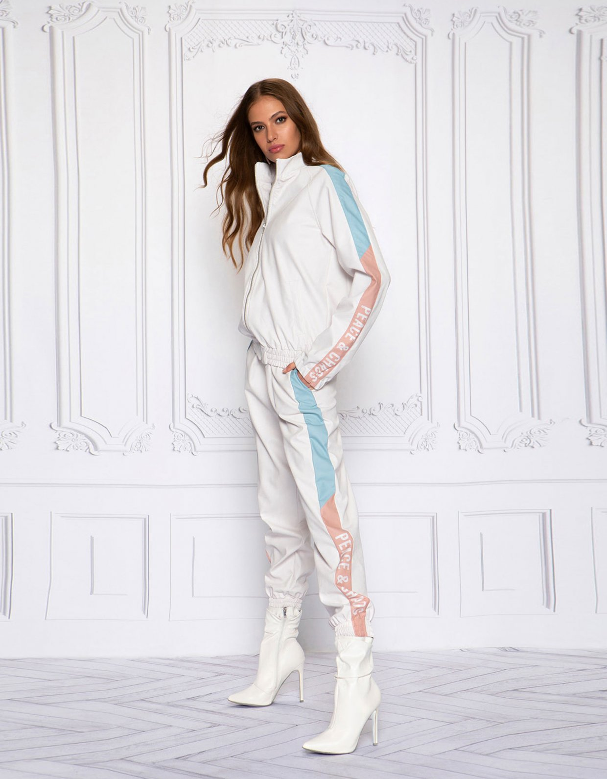 Peace & Chaos Valley girl eco leather pants