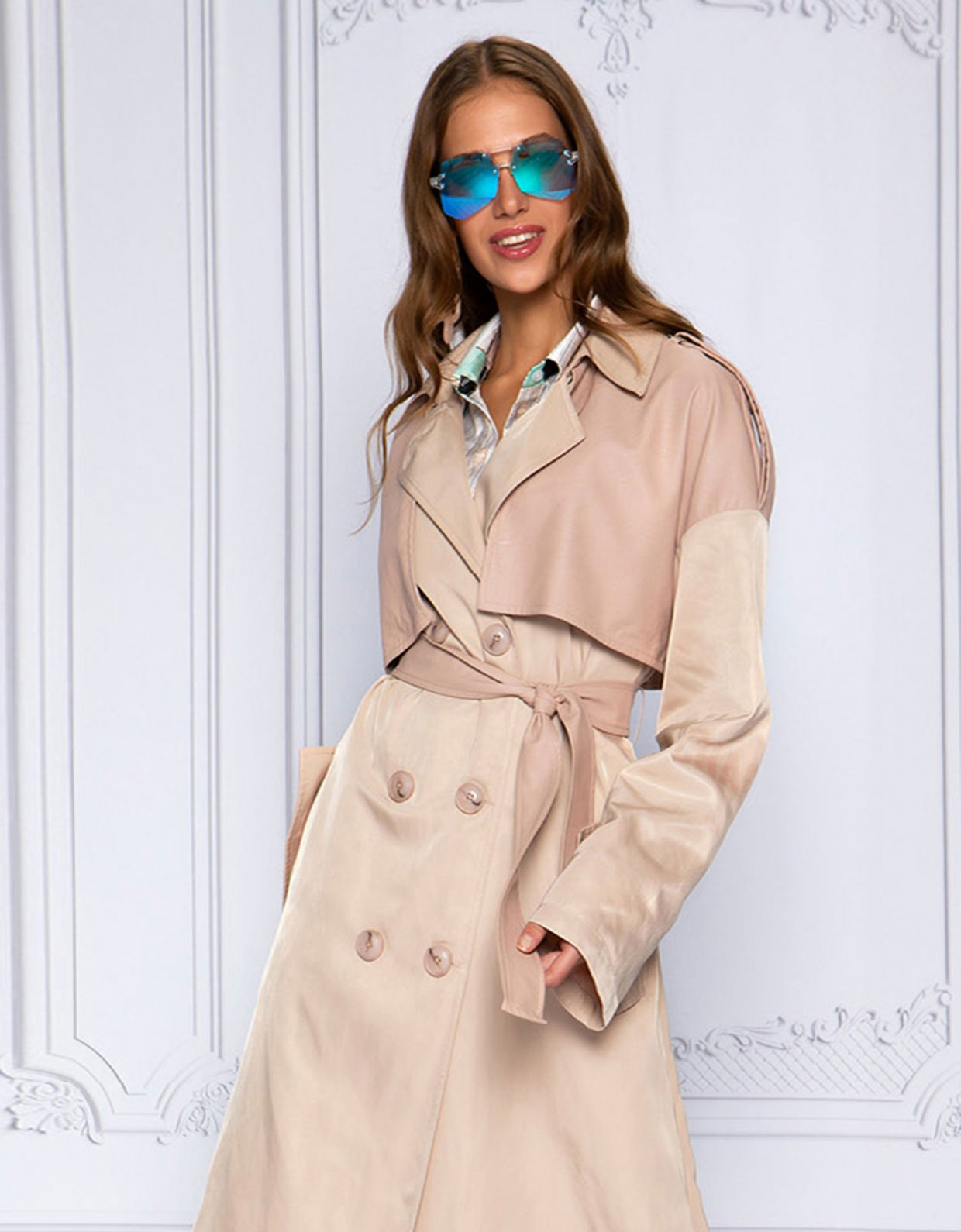 Peace & Chaos Nude lover trench coat