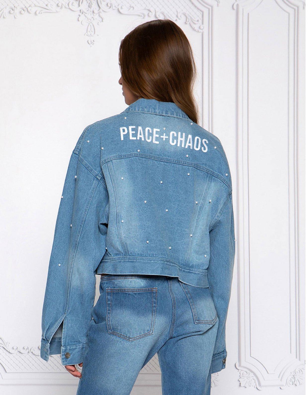 Peace & Chaos Pearl denim jacket