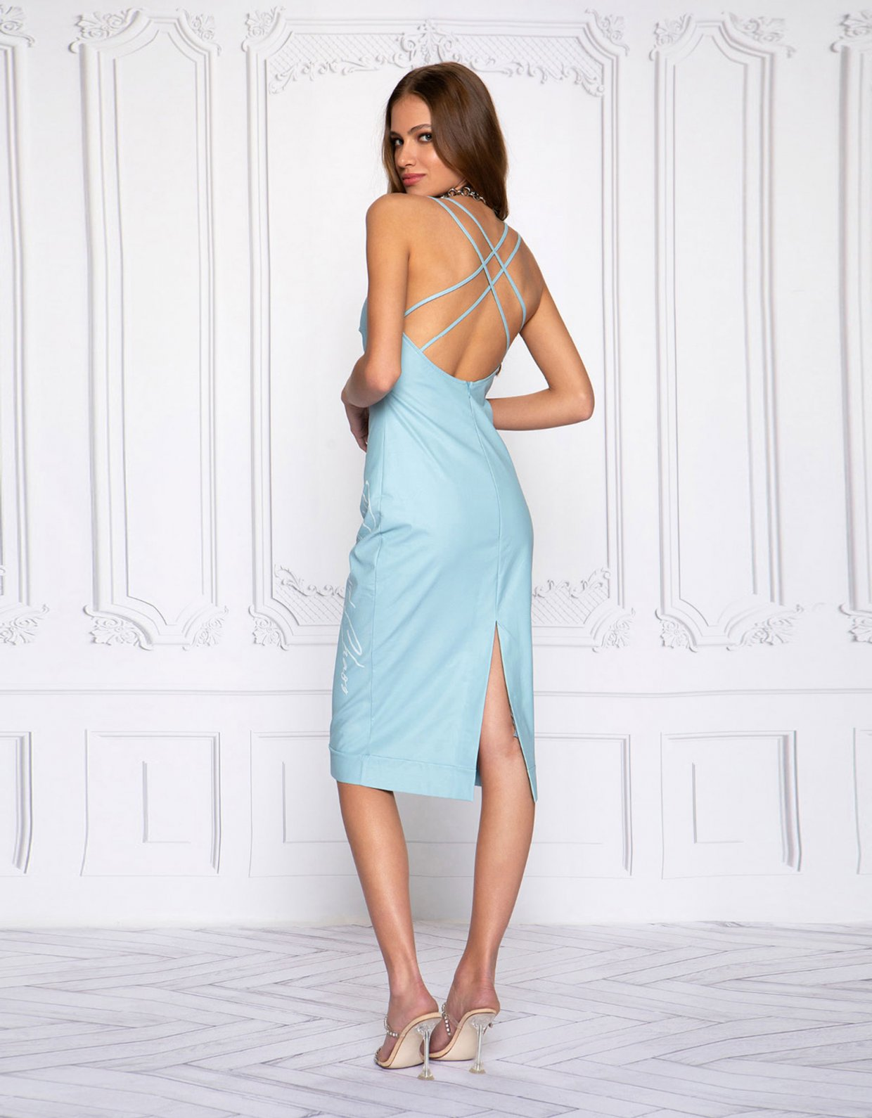 Peace & Chaos Eco leather chic dress