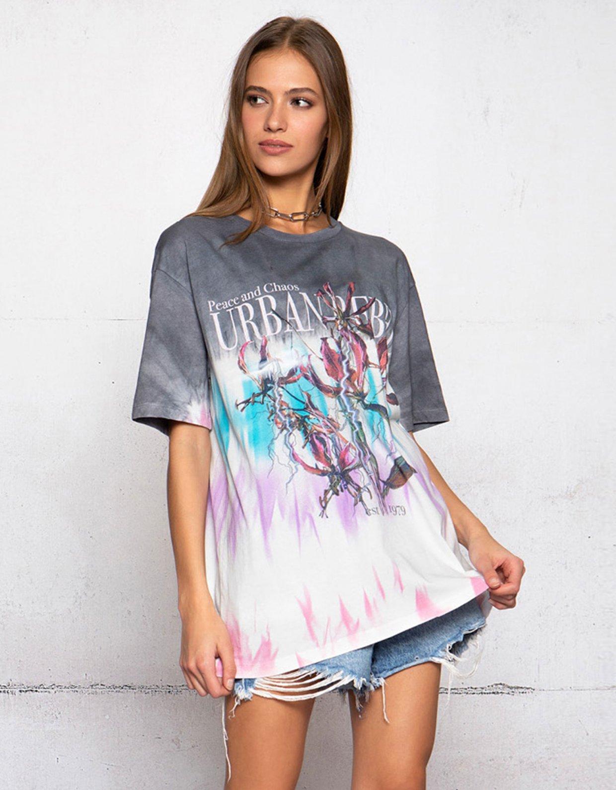 Peace & Chaos Urban rebel tie dye t-shirt