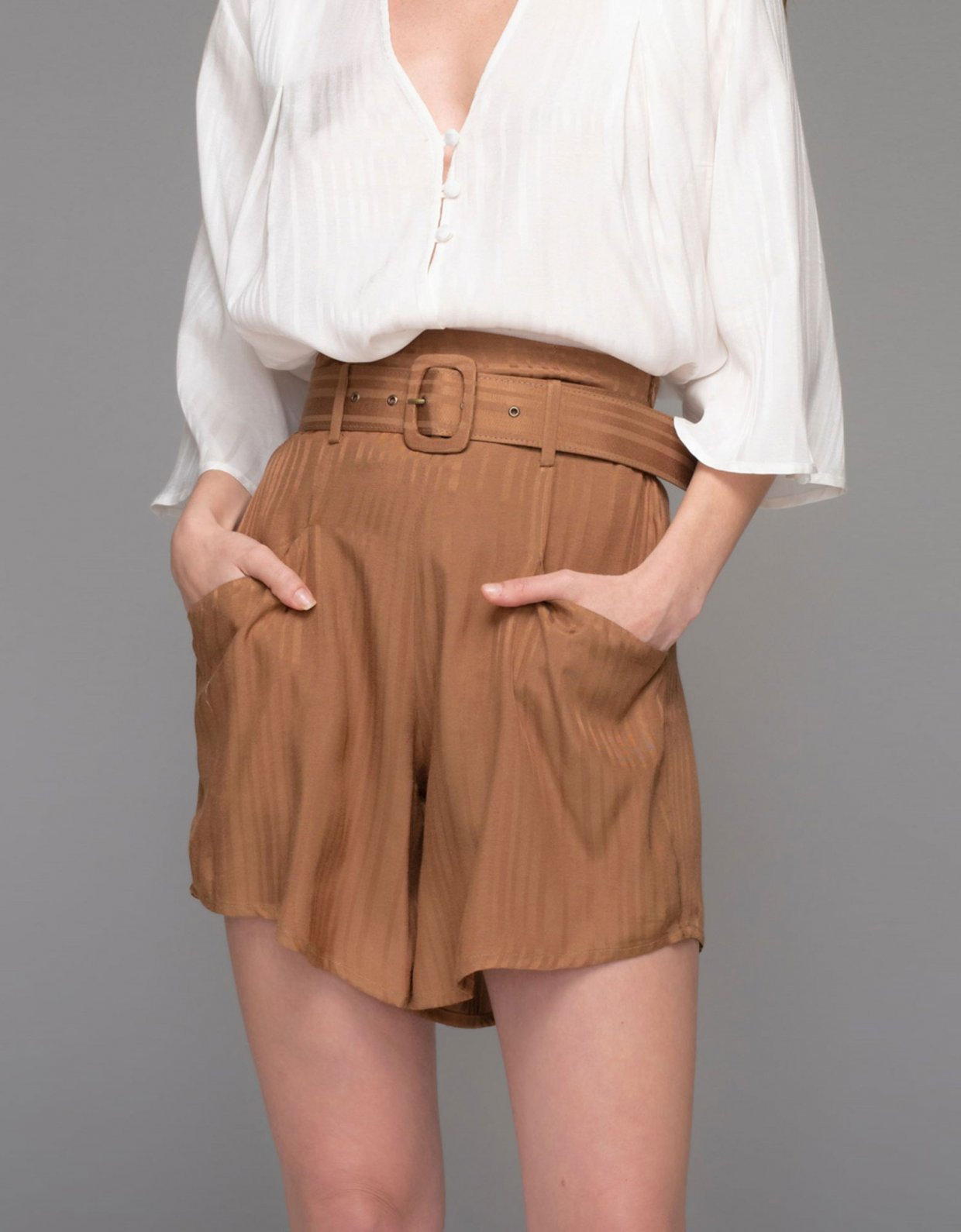 Nadia Rapti Saint Tropez shorts chocolate