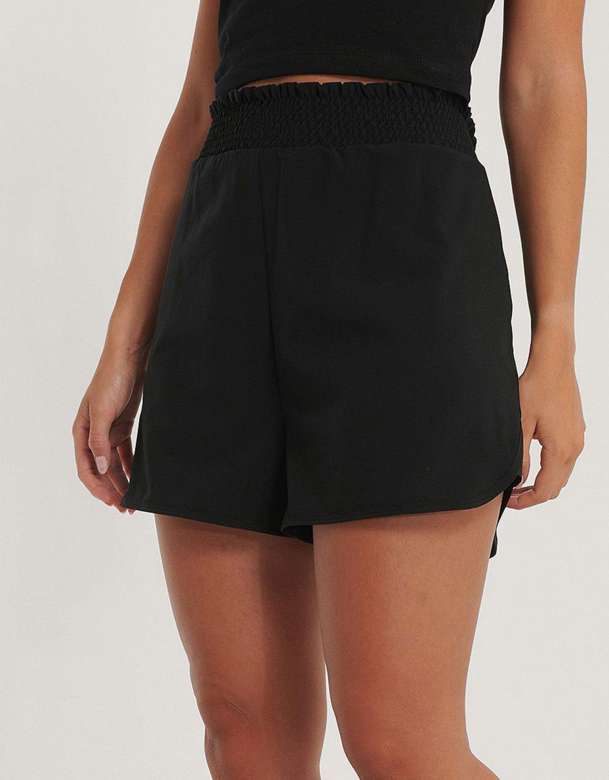 NA-KD Smocked waist sporty shorts