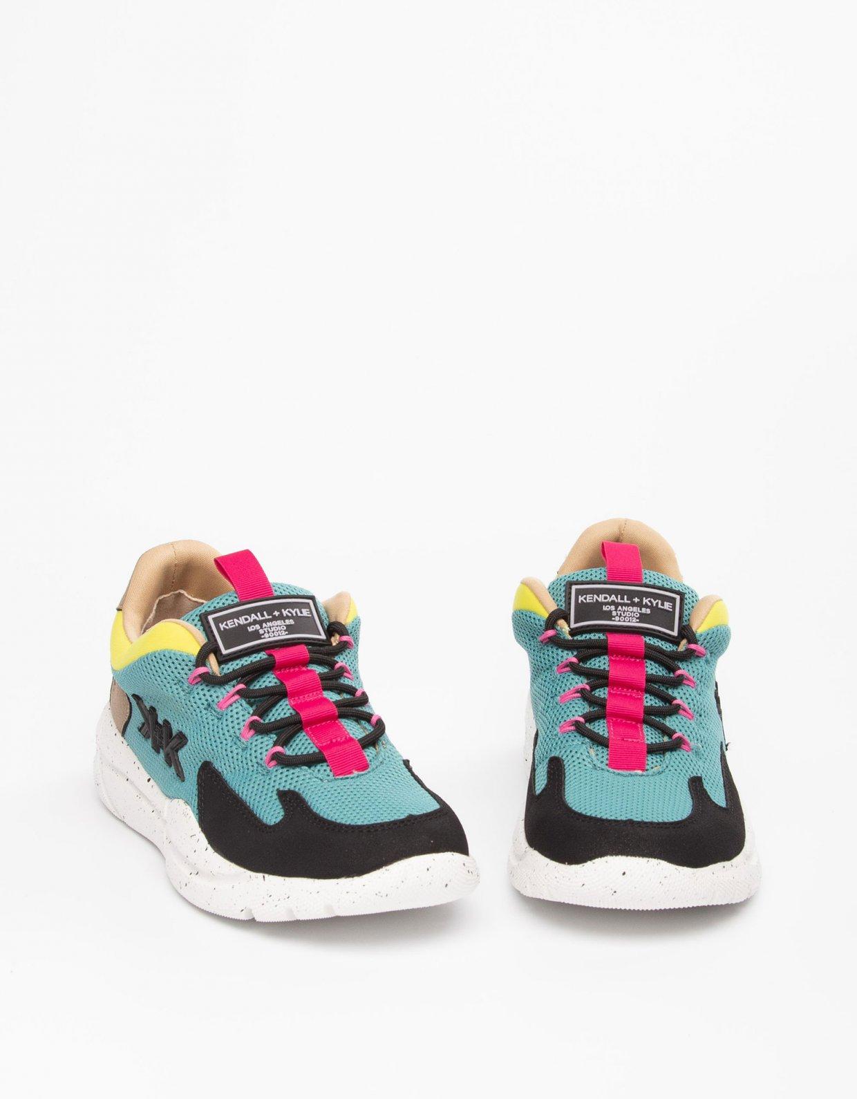 Kendall + Kylie Noemi sneakers black/teal/yellow