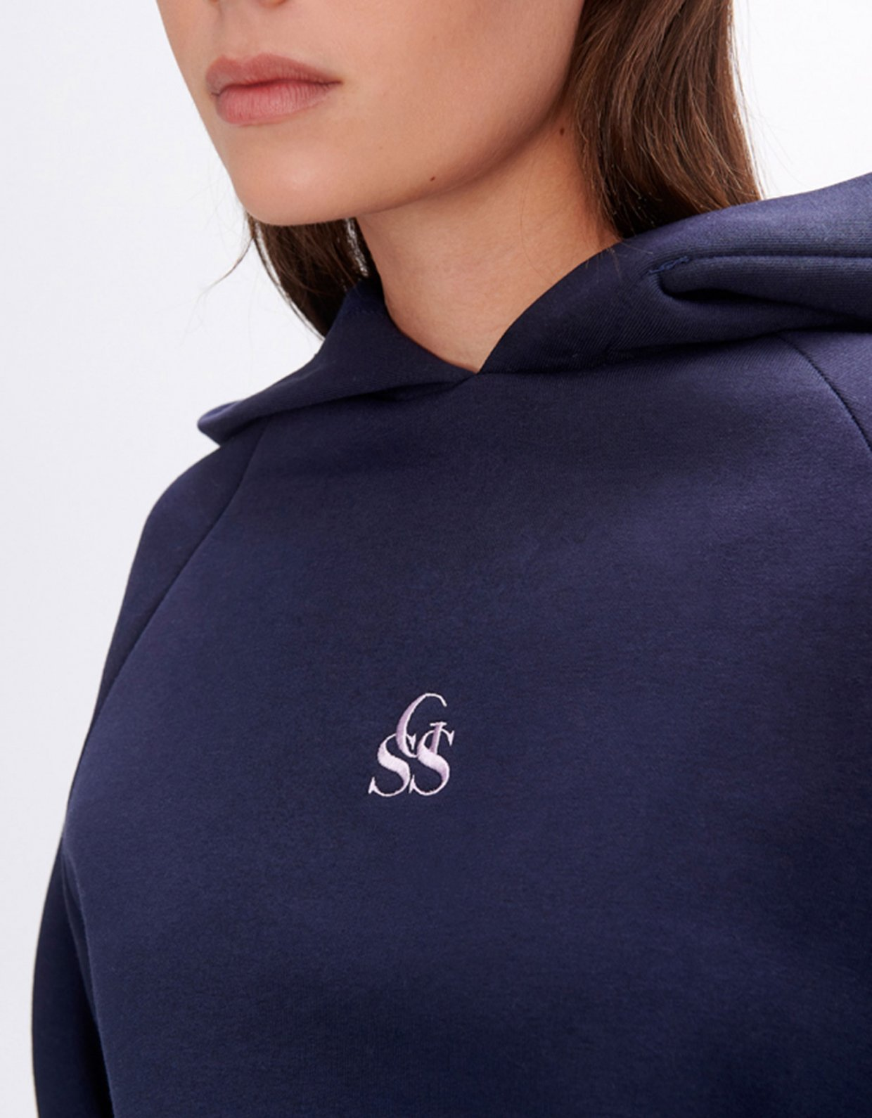 Sunset go Yavia  SSG dark blue crop hoodie