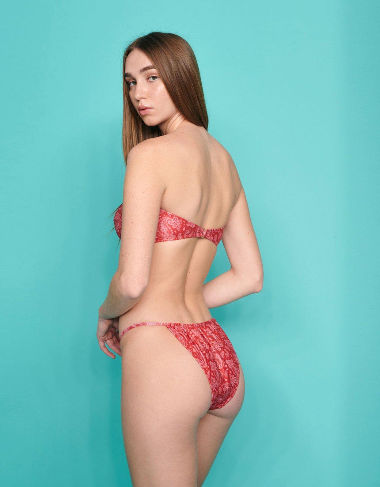 Sunset go Bianca bikini red paisley