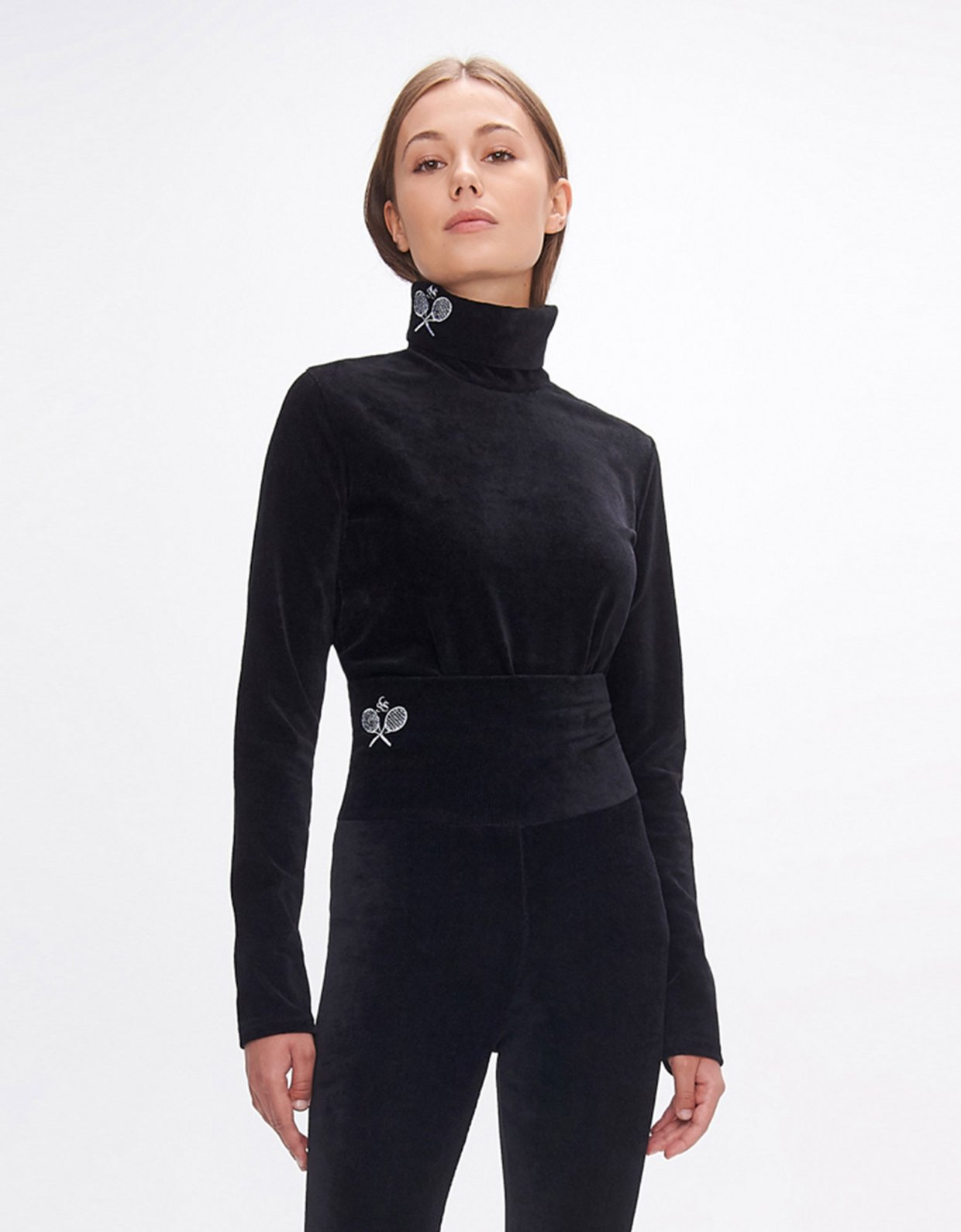 Sunset go Dona black turtleneck top