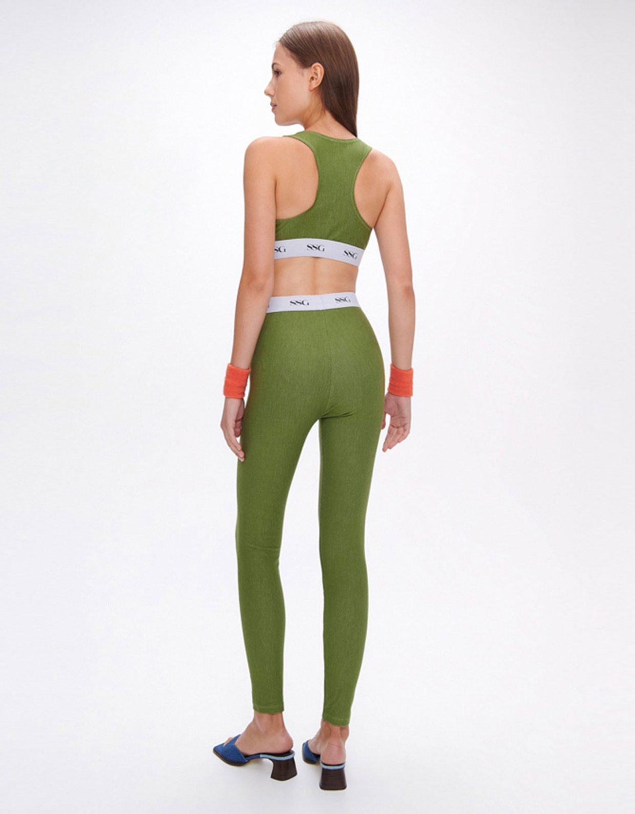 Sunset go Kelly green eco jean top