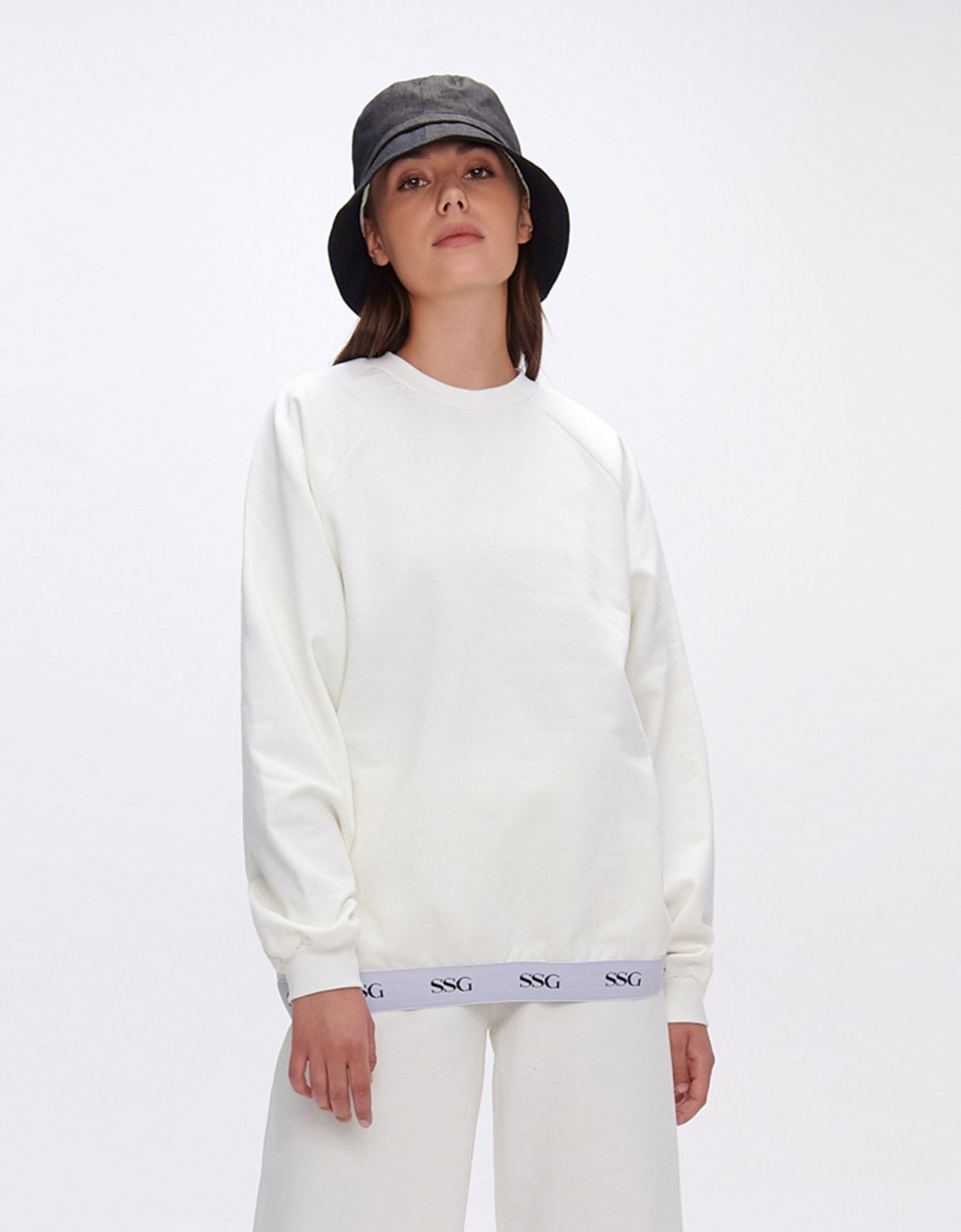 Sunset go Valerie white sweatshirt