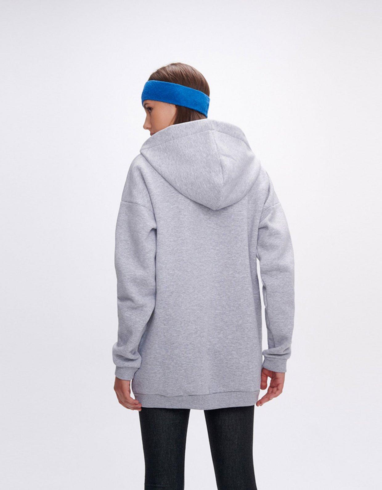 Sunset go Hoodia rackets grey long hoodie