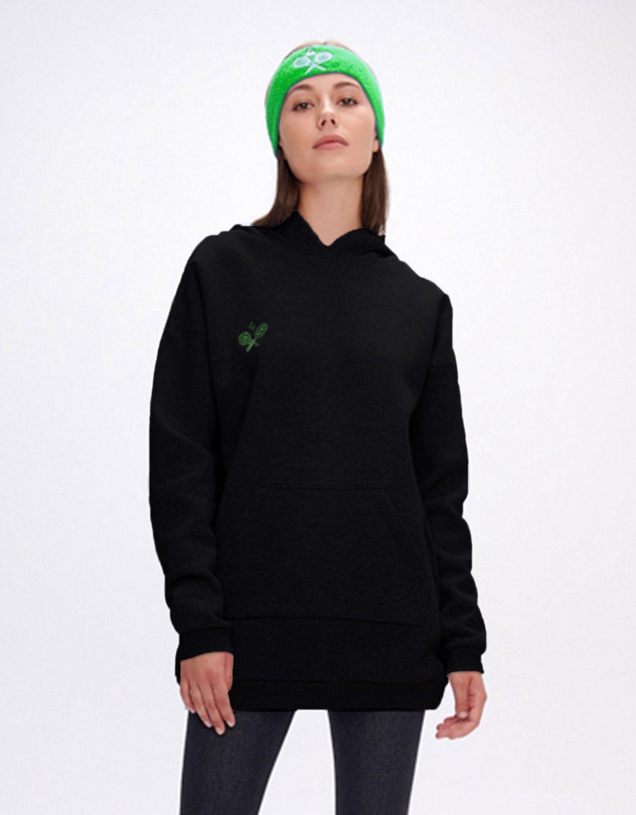 Sunset go Hoodia rackets black long hoodie