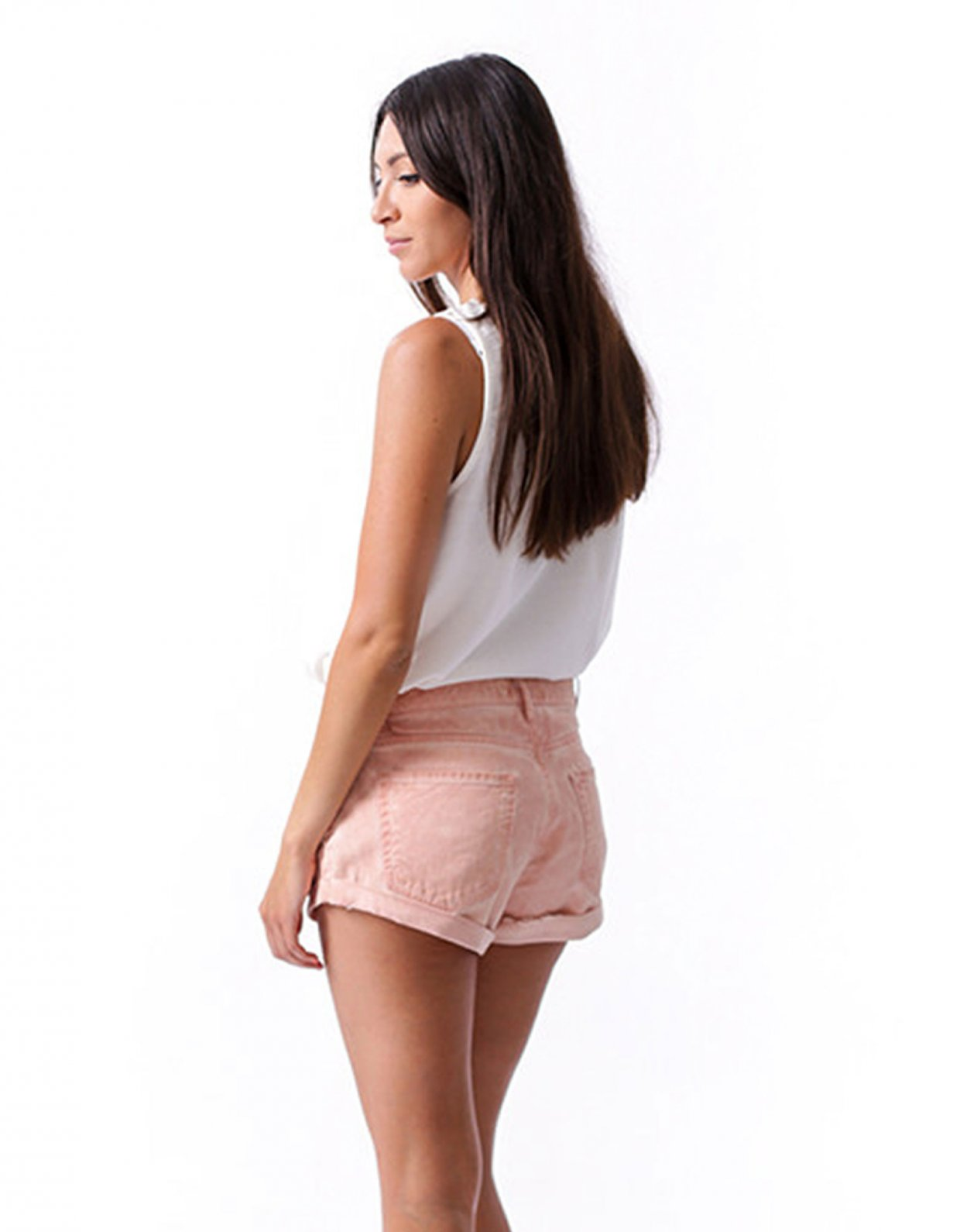 Salt & Pepper Tanya pink shorts