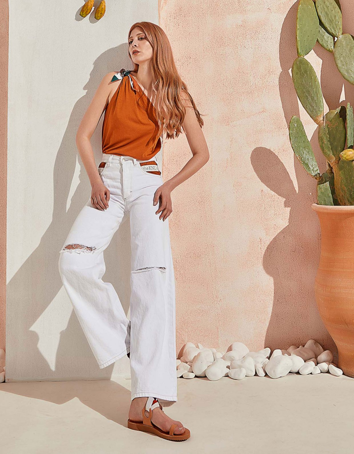 The Knl's Outburst jeans off white