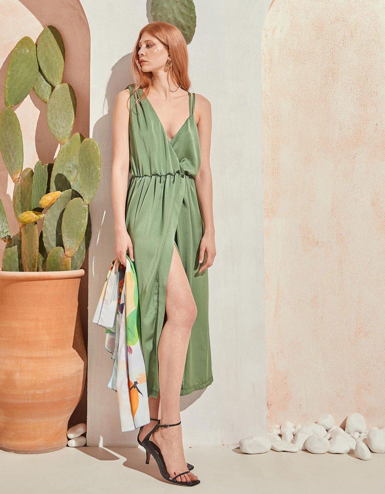 The Knl's Liberty dress green