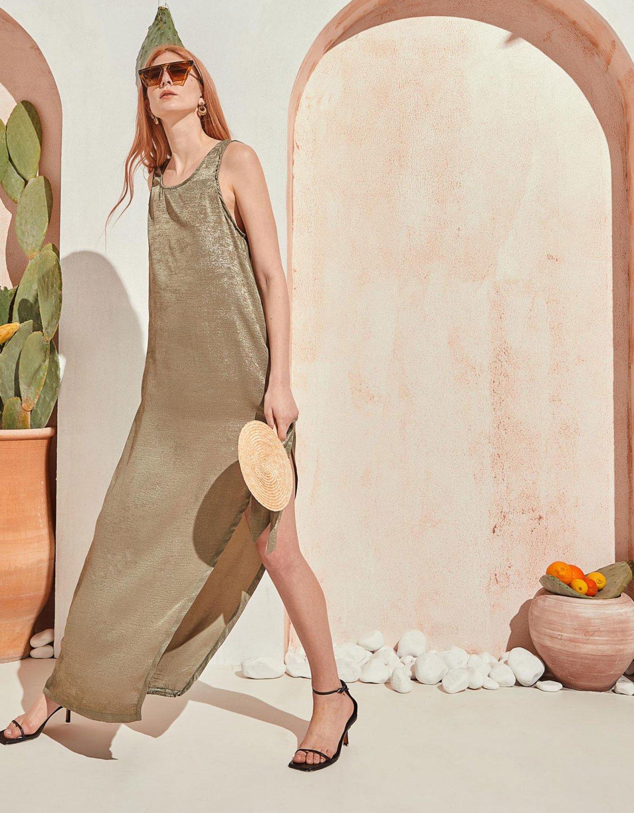 The Knl's Wander dress sparkling khaki