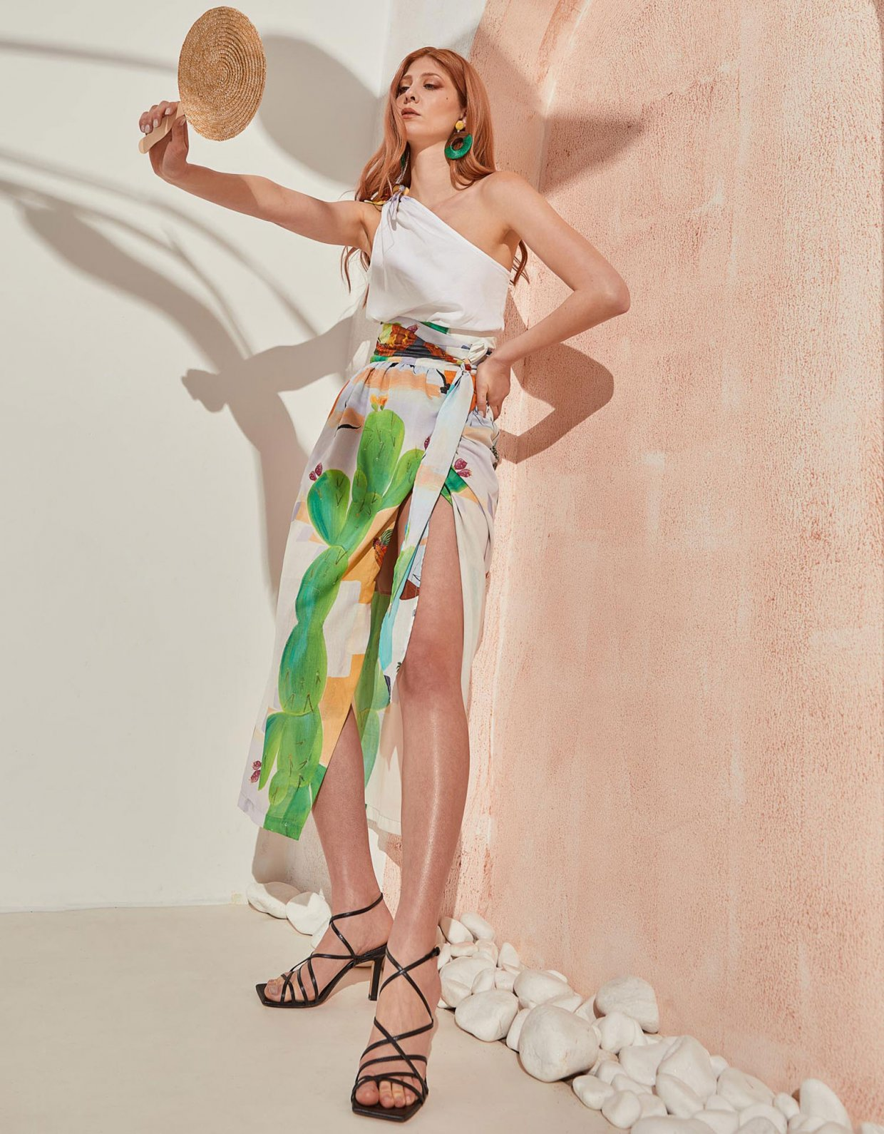 The Knl's Column skirt cactus print