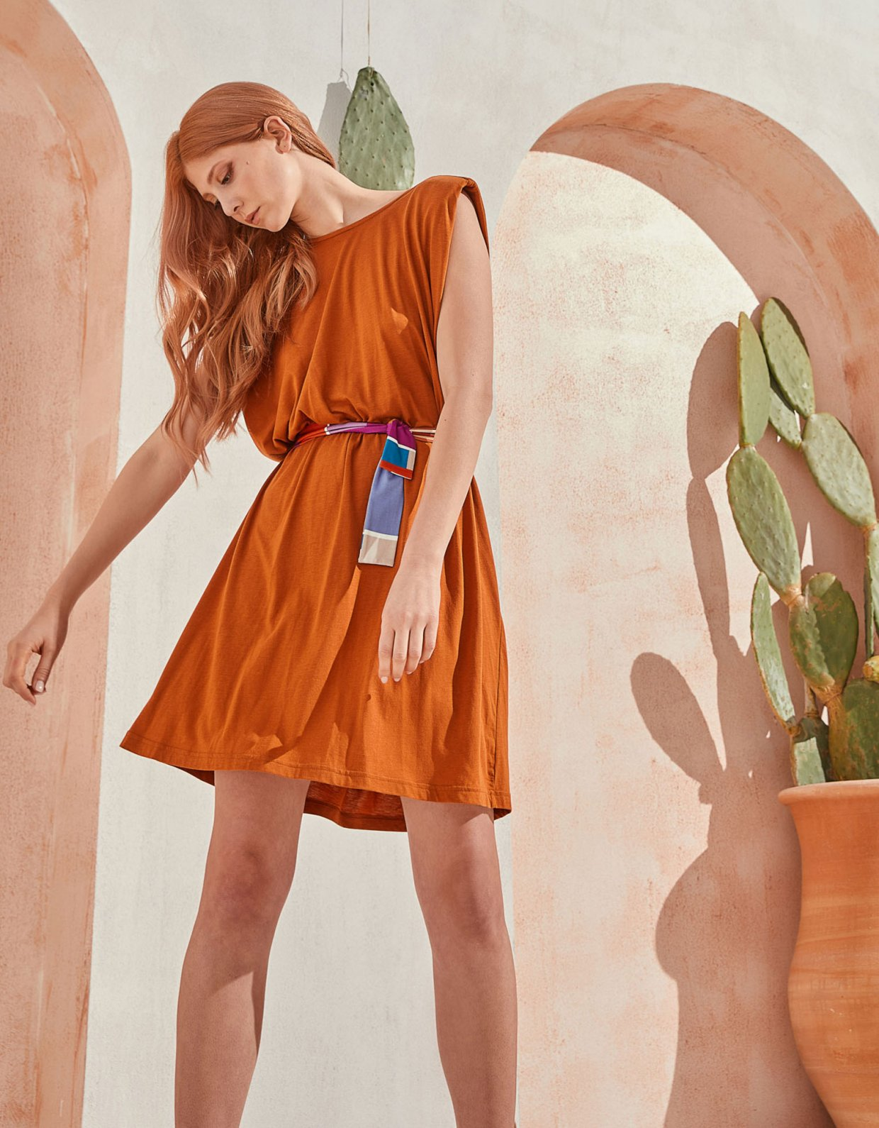 The Knl's Jaunt dress toffee