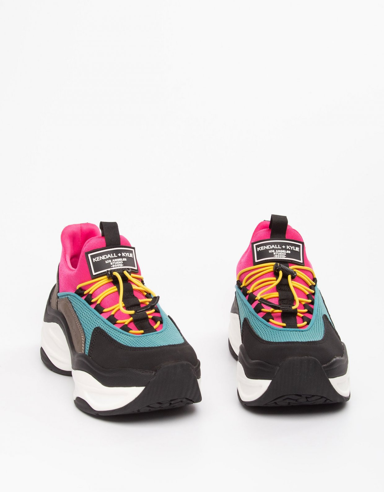 Kendall + Kylie Willow sneakers taupe/teal/fuchsia