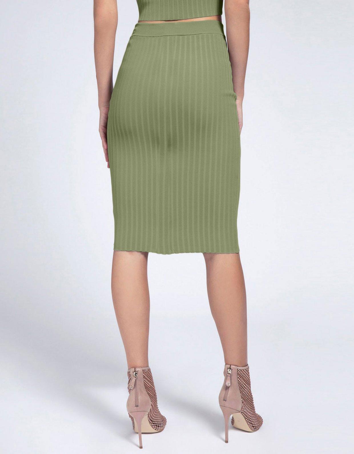 Guess Ada rib skirt green