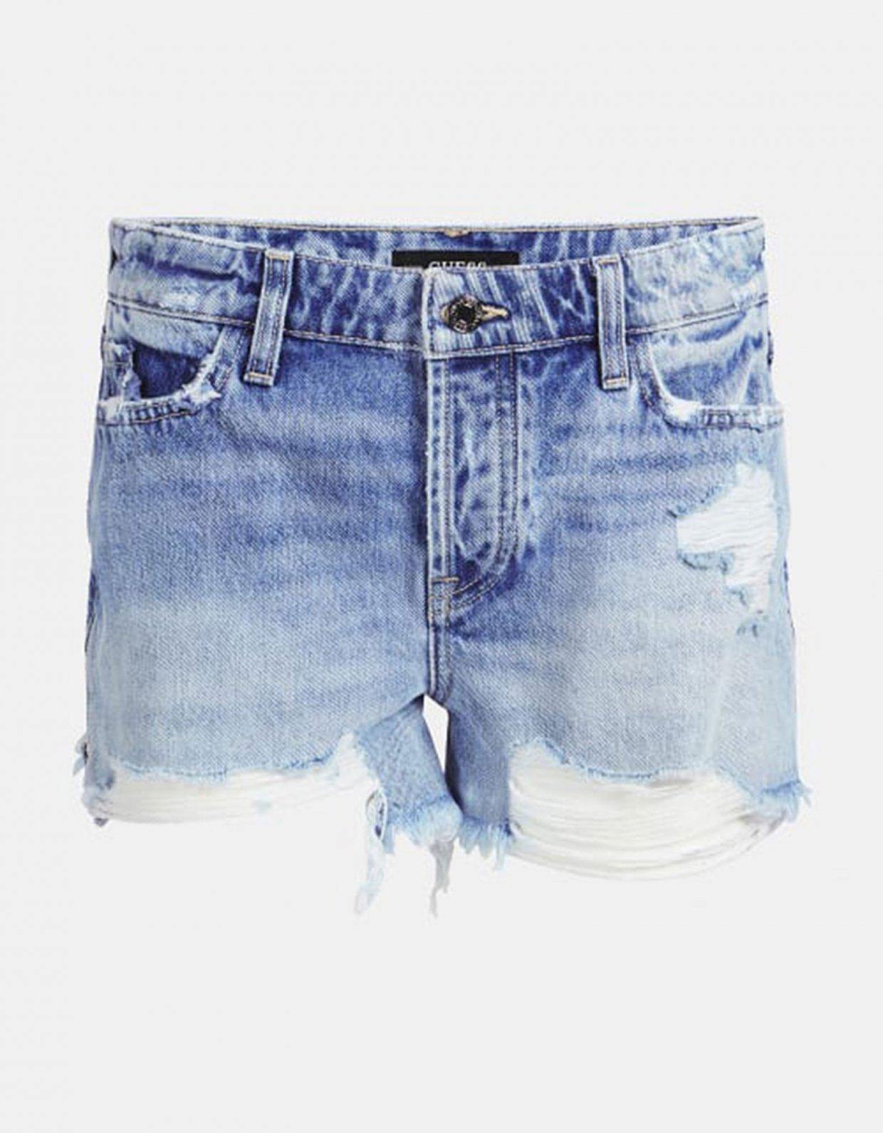 GUESS Holly zip denim shorts
