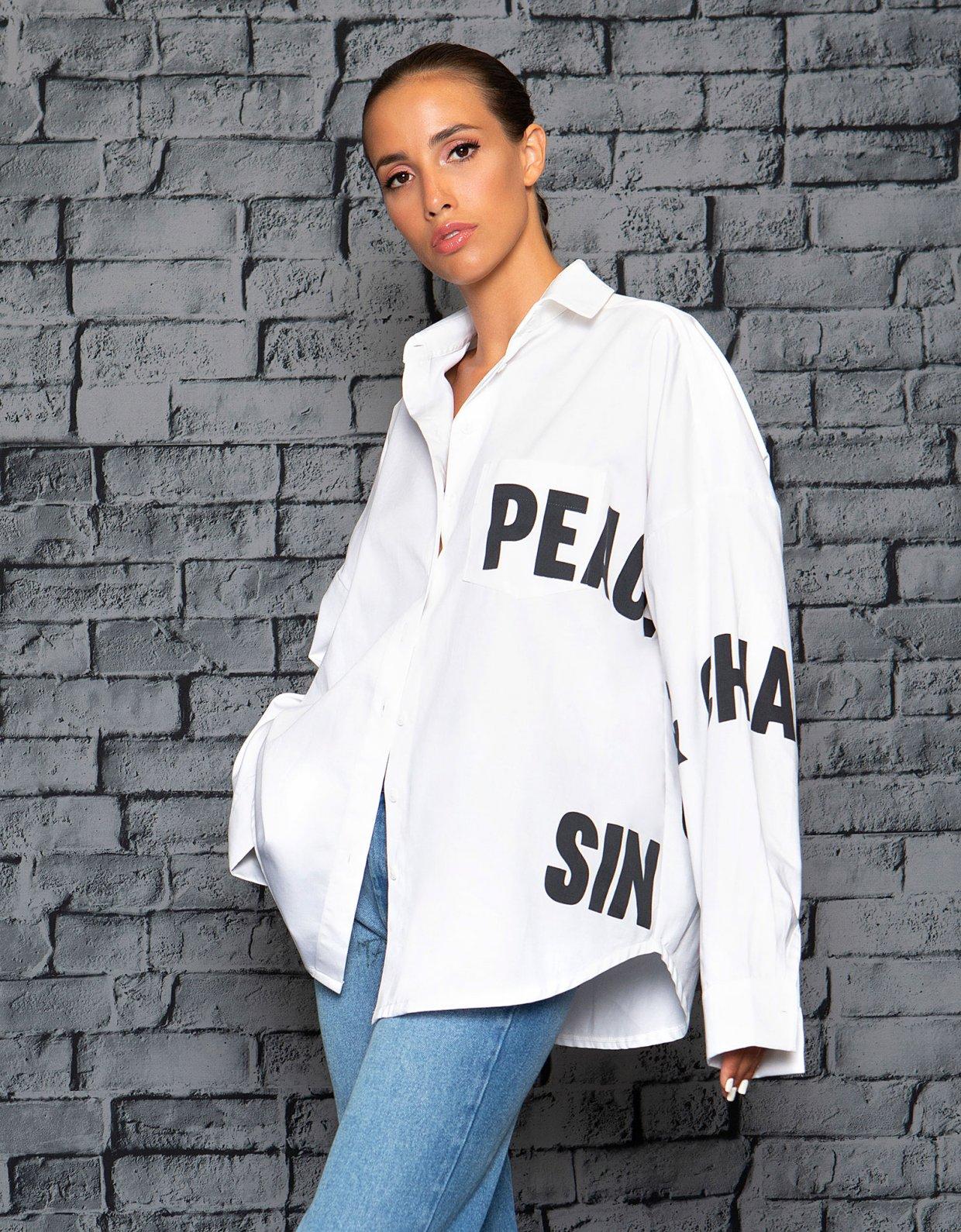 Peace & Chaos P+C white shirt