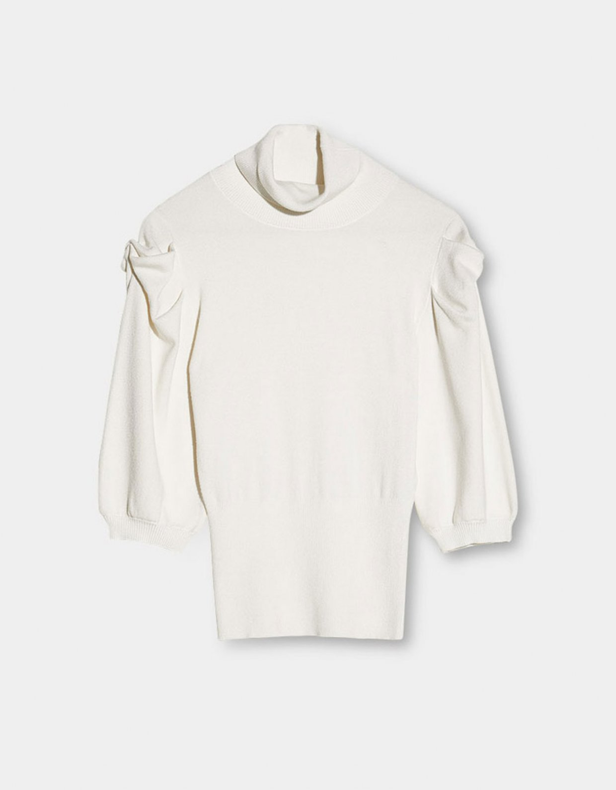 Liu Jo Knit turtleneck bianco