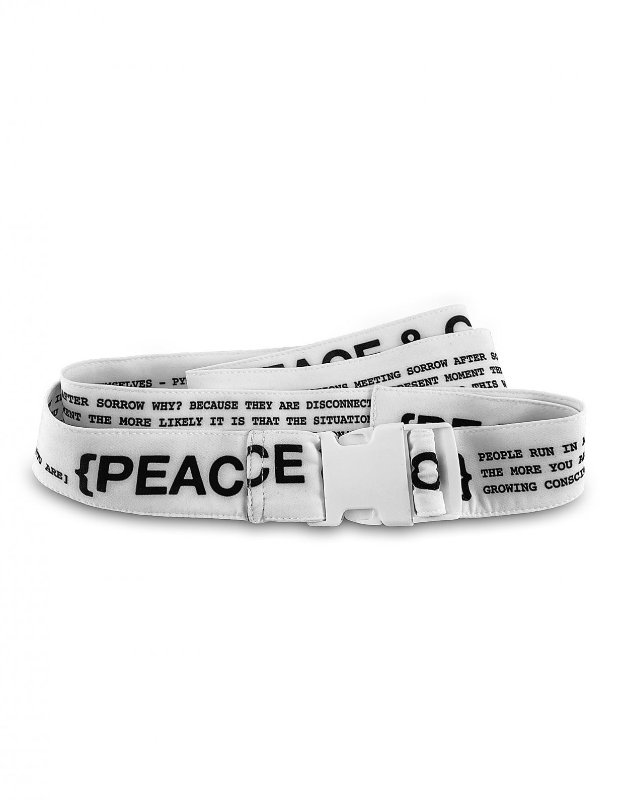 Peace & Chaos P&C belt white