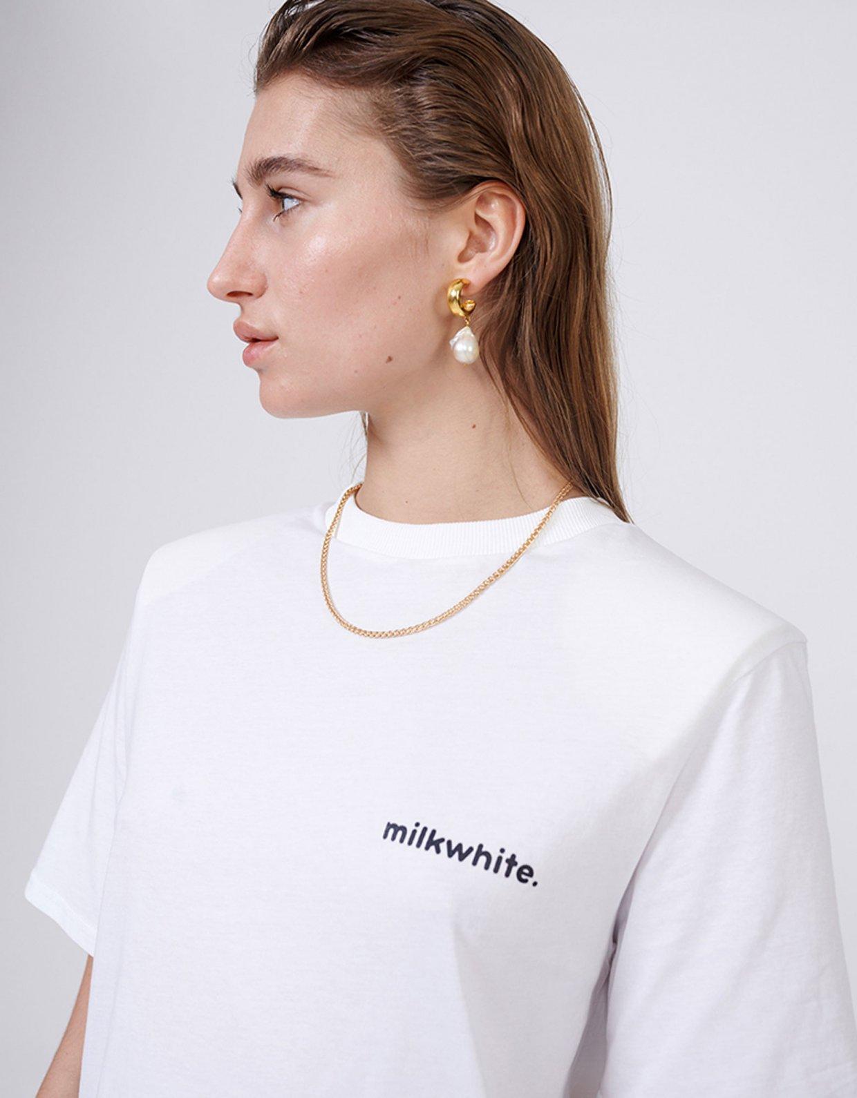 Milk White Milkwhite white t-shirt