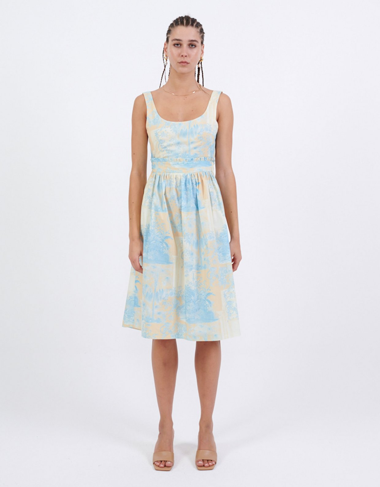 Milk White Yellow monkeys dress