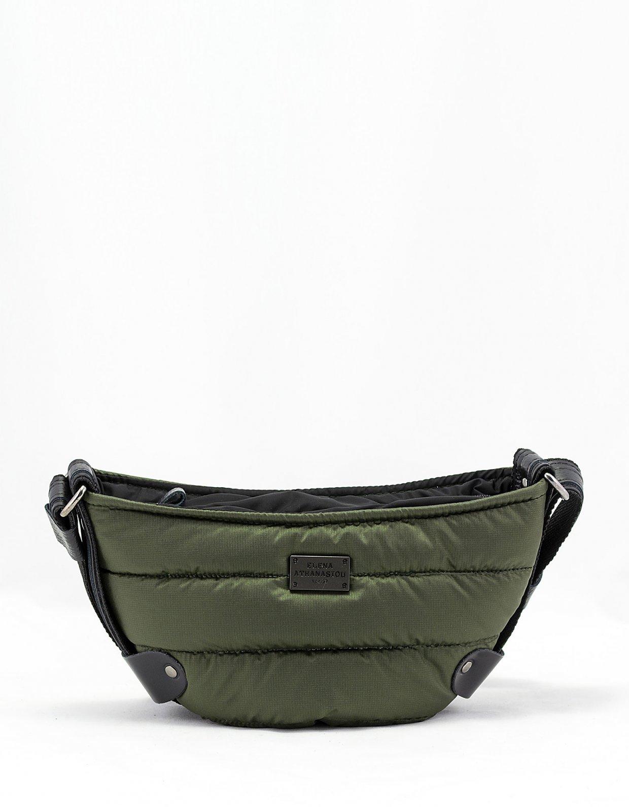 Elena Athanasiou Puffer body bag small khaki
