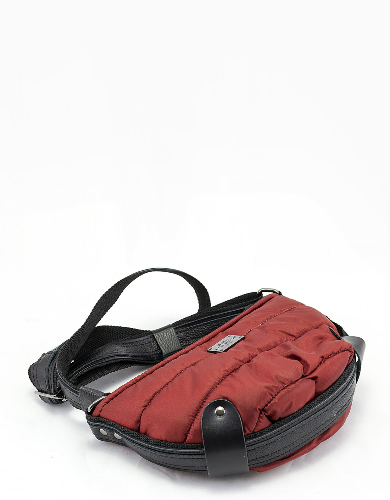 Elena Athanasiou Puffer body bag small brick red