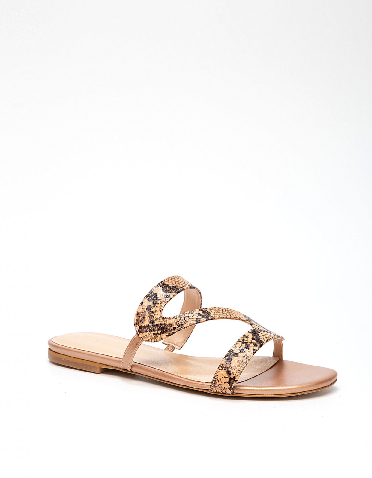 Kendall + Kylie Bahama snake nude sandals