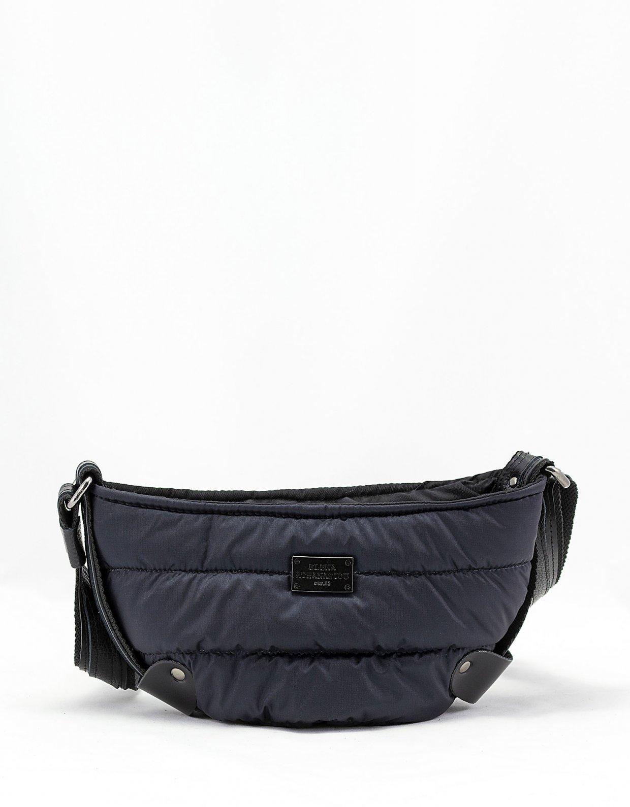 Elena Athanasiou Puffer body bag small blue-black