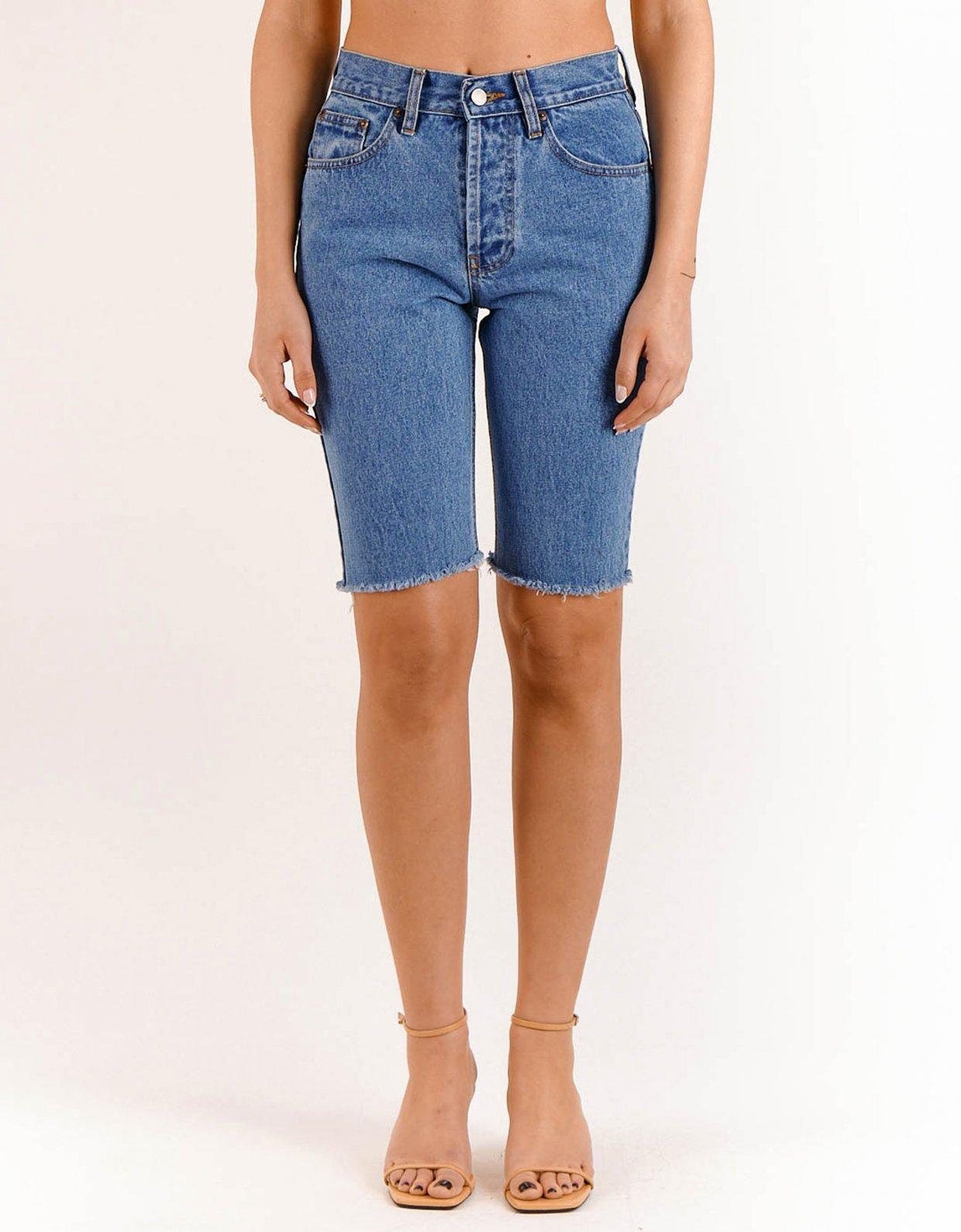 Salt & Pepper Alessia medium denim bermuda shorts