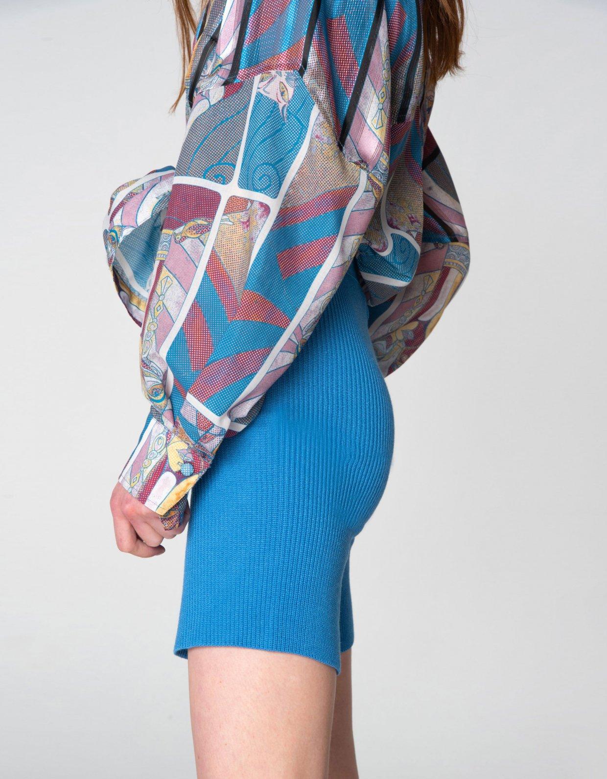Nadia Rapti Tribes of knit leggings turquoise