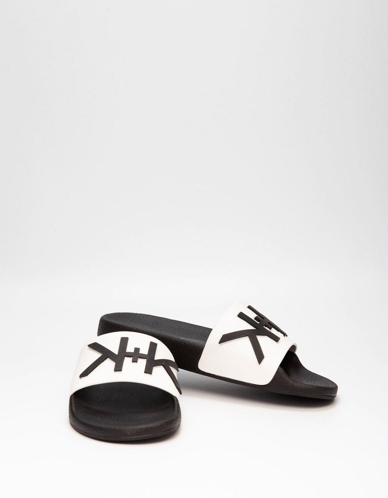 Kendall + Kylie KK Ellis slippers white/black