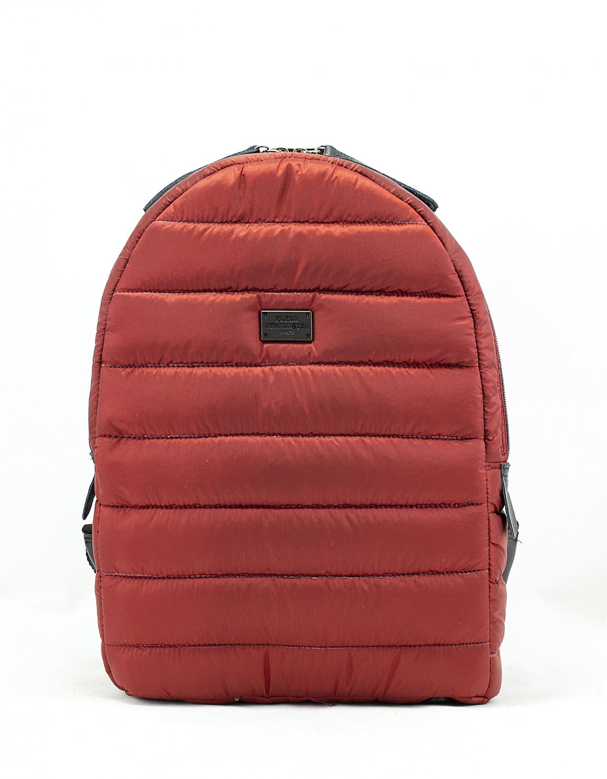 Elena Athanasiou Puffer fly backpack brick red