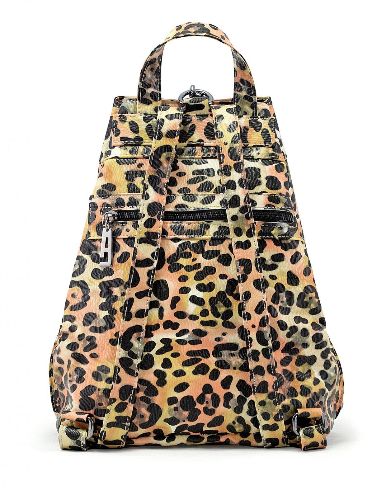 Elena Athanasiou Backpack animal print yellow nickel