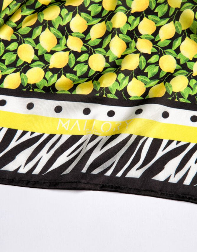 Mallory the label Versilia large lemons scarf