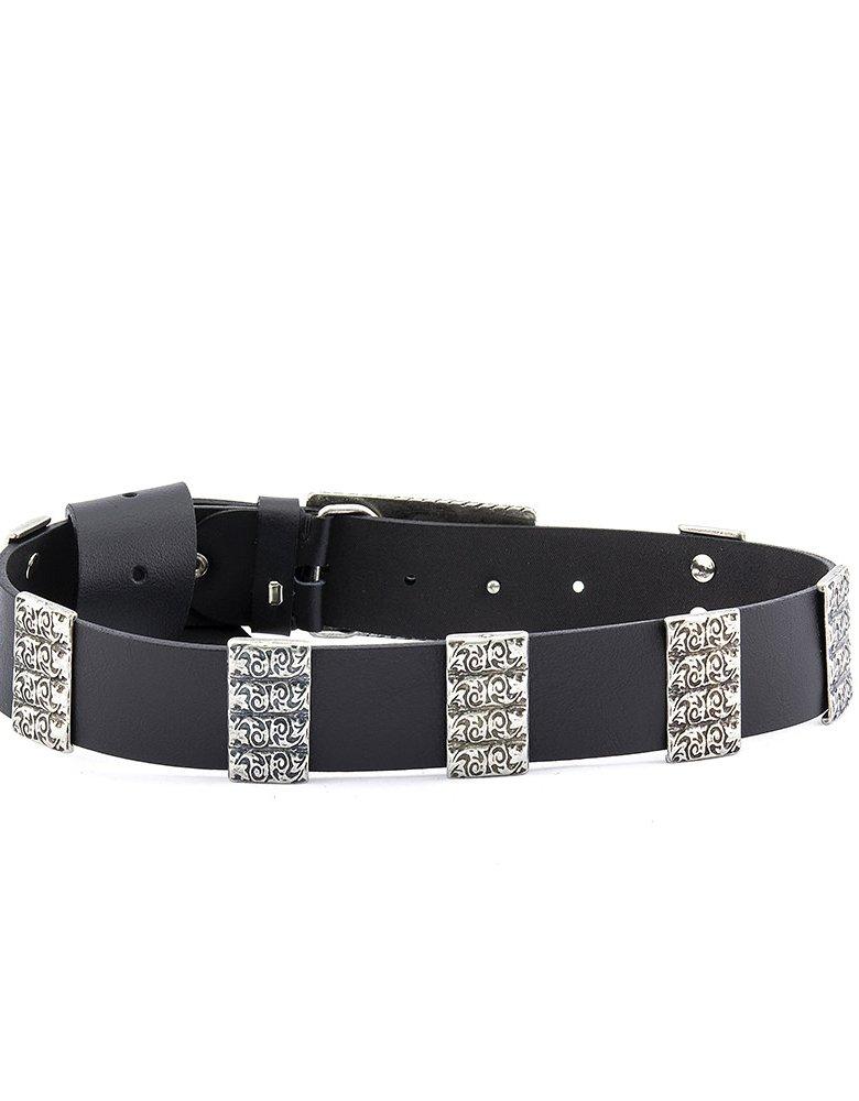 Individual Art Leather Unsteady belt black