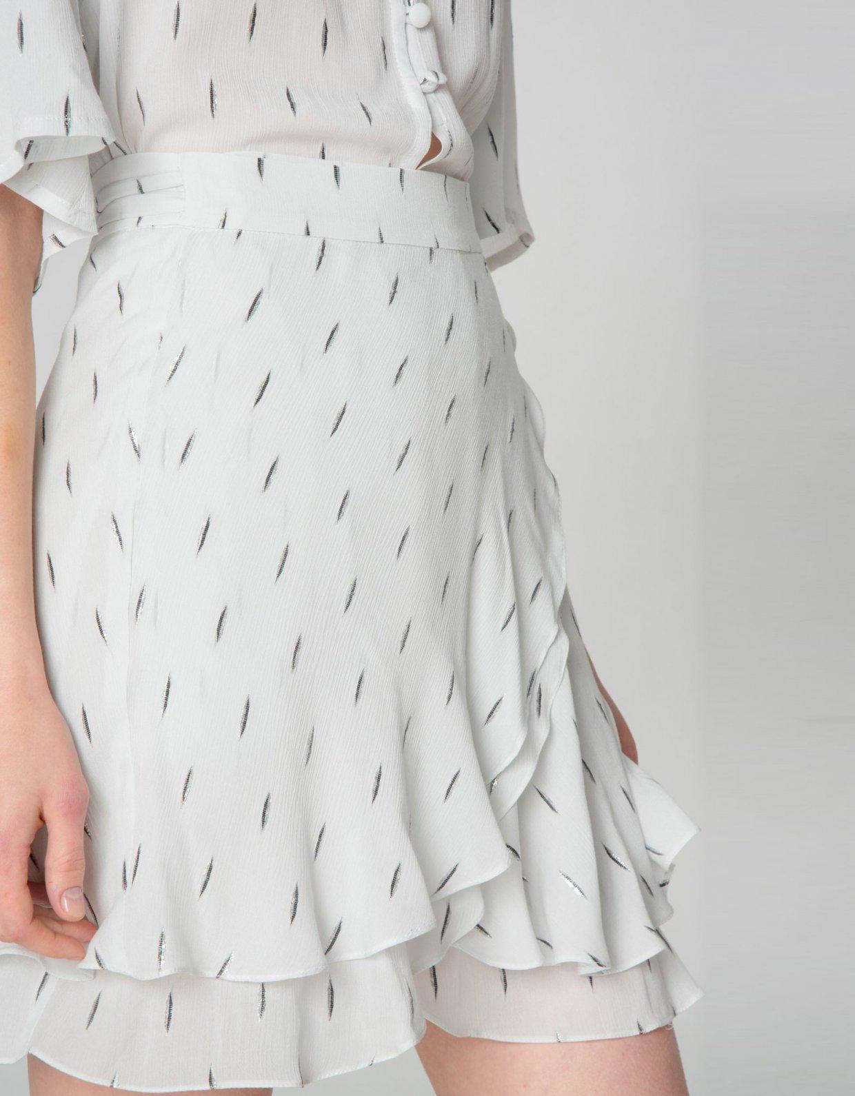 Nadia Rapti Pearl of Africa skirt white