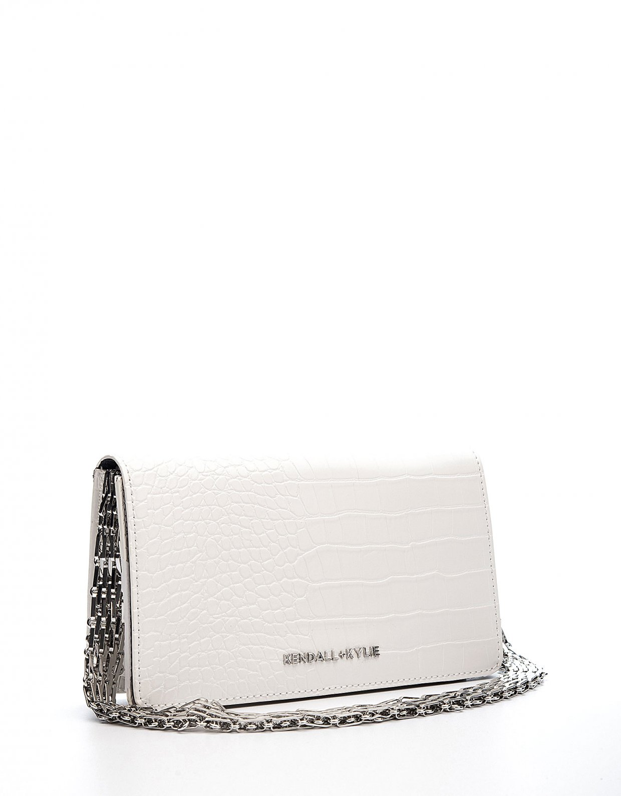 Kendall + Kylie Amanza shoulder bag white croco