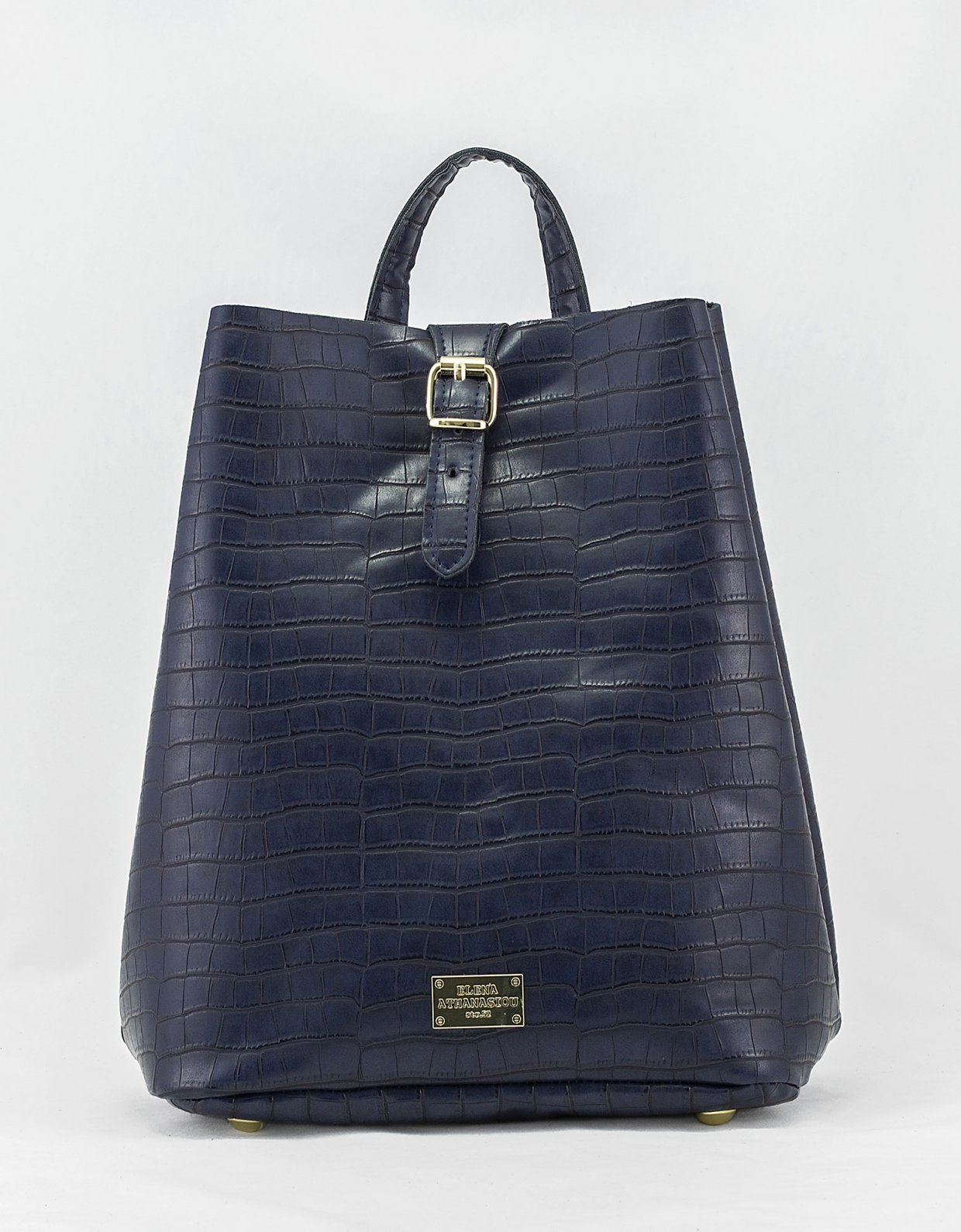 Elena Athanasiou Croco backpack blue