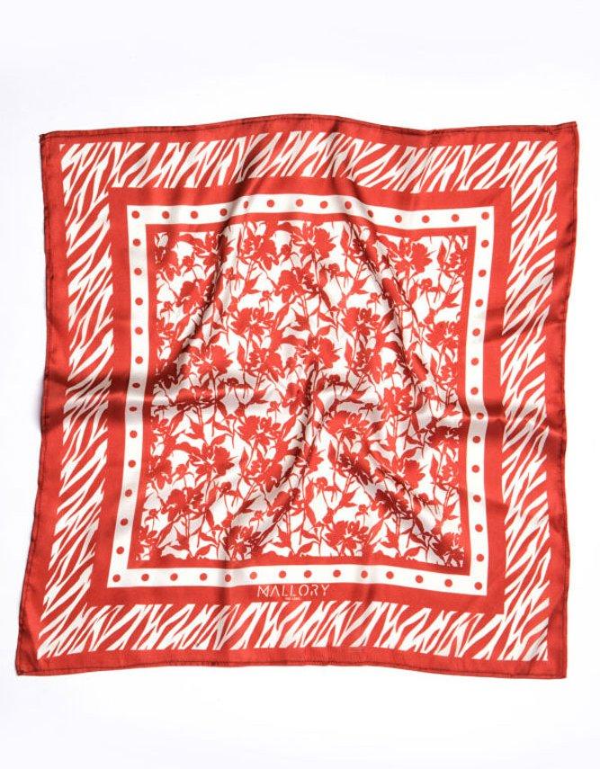Mallory the label Versilia large terracotta scarf
